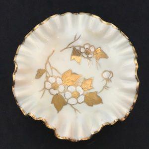 "Kalk German Porcelain Ruffled Candy Dish 5.75"""